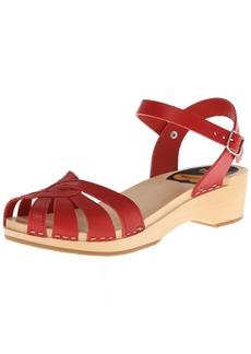 swedish hasbeens Women's Cross Strap Debutant Platform Sandal