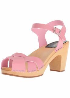 swedish hasbeens Women's Kringlan Heeled Sandal  3 Regular EU (3- US)