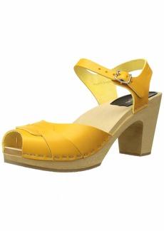 swedish hasbeens Women's Peep Toe Super High Heeled Sandal   M US