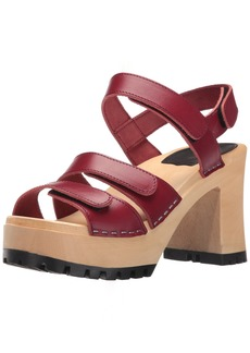 swedish hasbeens Women's Velcra Heeled Sandal