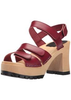 swedish hasbeens Women's Velcra Heeled Sandal   M US