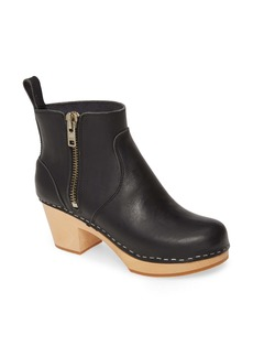 Swedish Hasbeens Zip It Emy Clog Bootie (Women)