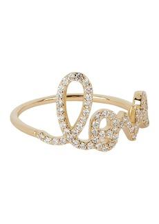 Sydney Evan Diamond Love Script Ring