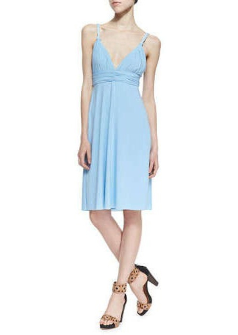 T-Bags T Bags Ballet Cutout-Back Braided Dress, Light Blue