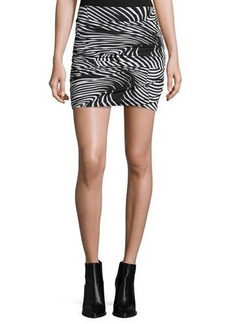 T Bags Graphic-Print Ruched Mini Skirt