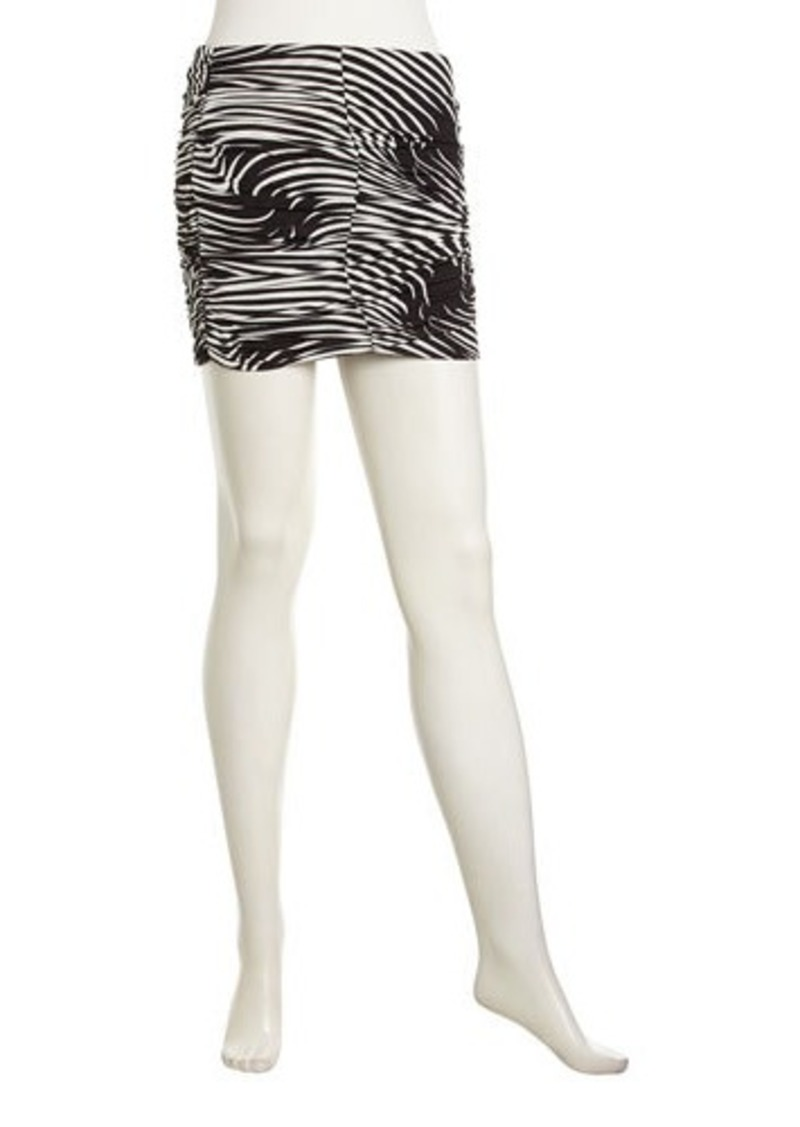 T-Bags T Bags Graphic-Print Ruched Miniskirt  Graphic-Print Ruched Miniskirt