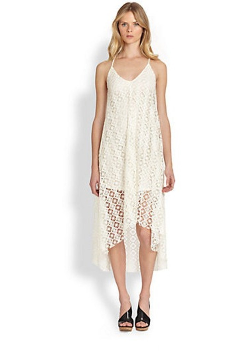 T-bags Los Angeles Crocheted Hi-Lo Dress