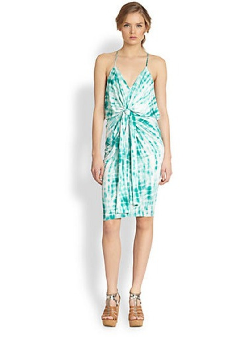 T-bags Los Angeles Tie-Dyed Draped Knot Dress