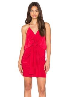 T-Bags LosAngeles Domino Tie Front Micro Mini Dress