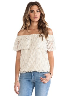T-Bags LosAngeles Off The Shoulder Lace Top