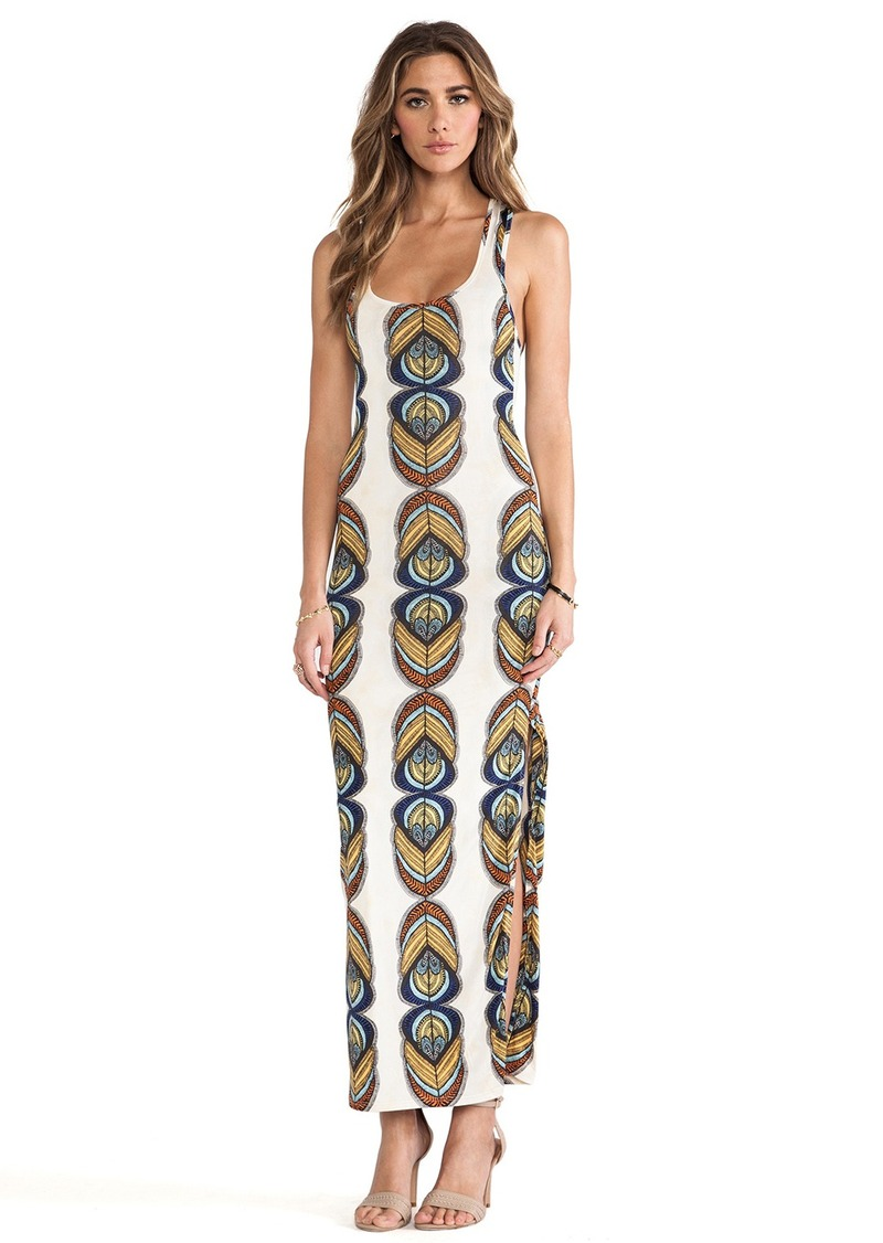 T-Bags LosAngeles Racer Back Maxi Dress w/ Slits