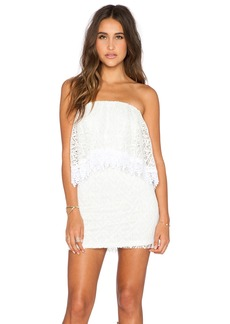T-Bags LosAngeles Strapless Lace Mini Dress