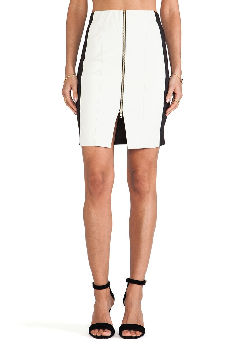 T-Bags LosAngeles Zipper Detail Mini Skirt