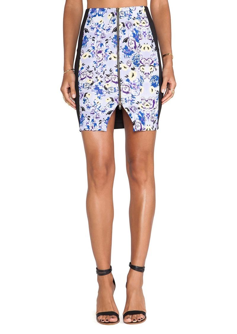 T-Bags LosAngeles Zipper Front Mini Skirt
