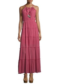 T Bags Sleeveless Tiered Maxi Dress