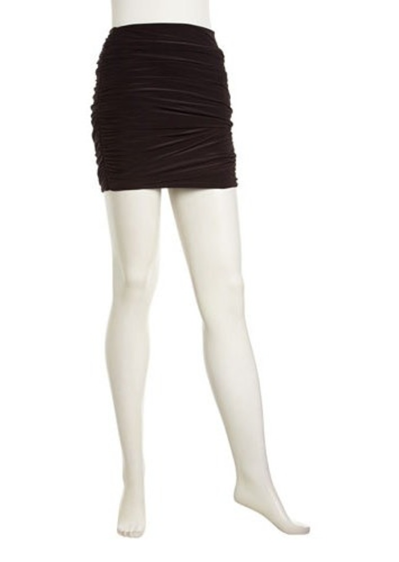 T-Bags T Bags Solid Ruched Miniskirt