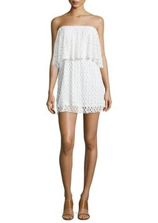 T Bags Strapless Lace Mini Dress