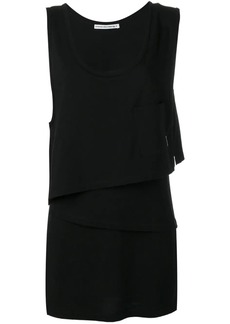 T by Alexander Wang asymmetric layered shirt dress