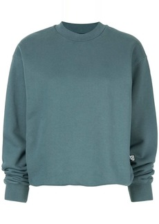 T by Alexander Wang long-sleeve fitted sweatshirt