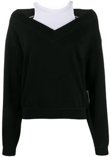 T by Alexander Wang wash + go bi-layer sweater