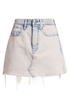 T by Alexander Wang Acid Wash Distressed Denim Mini Skirt