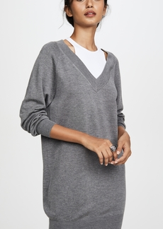 T by Alexander Wang alexanderwang.t Bi-Layer Sweater Dress