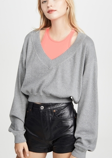 T by Alexander Wang alexanderwang.t Bi-Layer Sweater Top