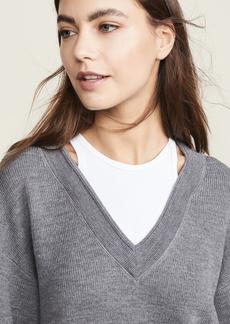 T by Alexander Wang alexanderwang.t Bi-Layer V Neck Sweater