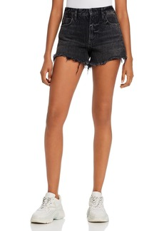 T by Alexander Wang alexanderwang.t Bite Back-Zip Jean Shorts in Gray Aged