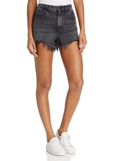 T by Alexander Wang alexanderwang.t Bite Cut-Off Shorts in Grey Aged