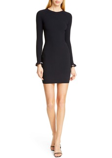 T by Alexander Wang alexanderwang.t Body Stocking Ribbed Sweater Dress
