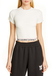 T by Alexander Wang alexanderwang.t Body Stocking Ribbed Sweater Tee