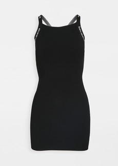 T by Alexander Wang alexanderwang.t Bodycon Tank Dress with Logo Jacquard Trim