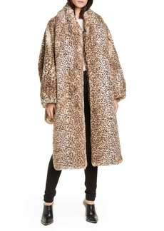 T by Alexander Wang alexanderwang.t Cheetah Print Oversize Faux Fur Coat