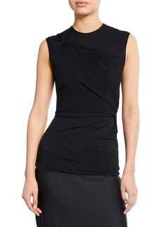 T by Alexander Wang alexanderwang.t crewneck sleeveless twisted crepe jersey top