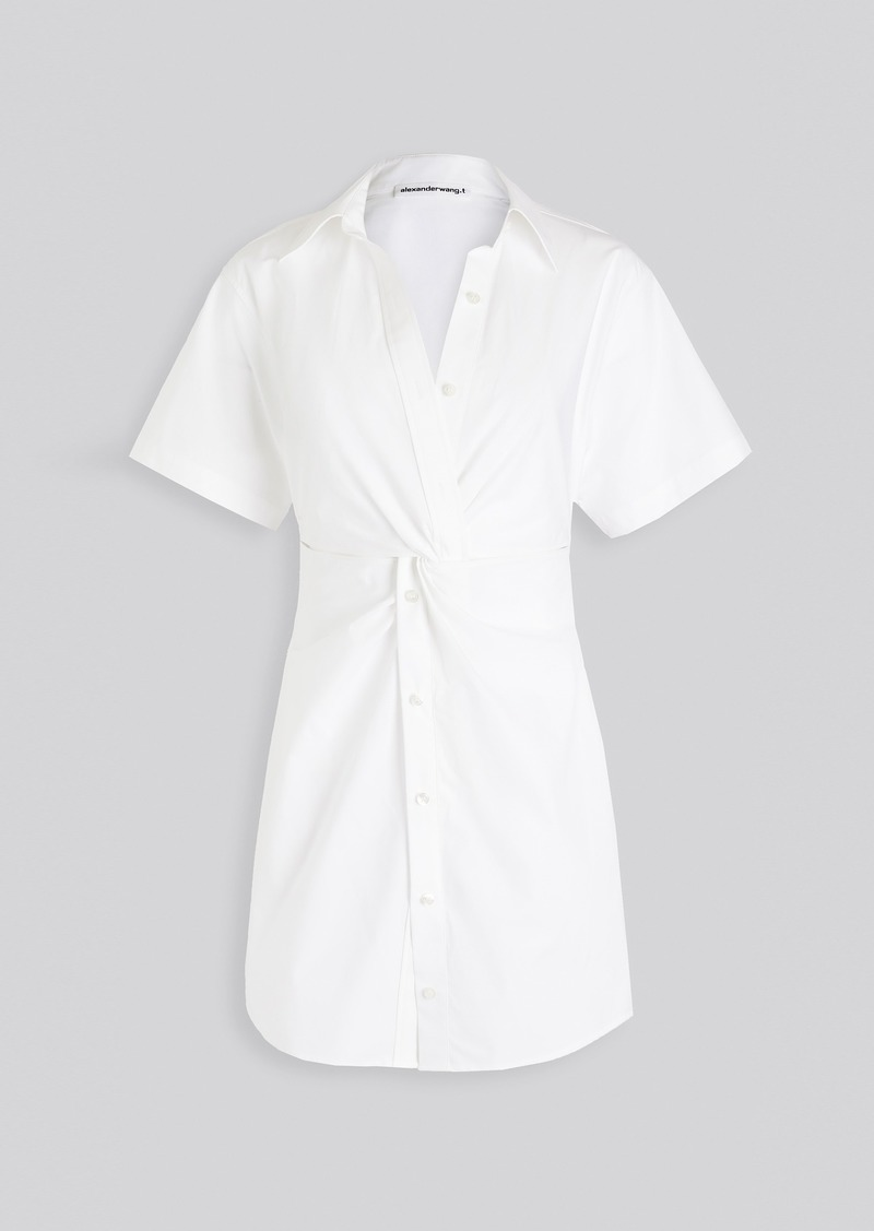 T by Alexander Wang alexanderwang.t Crisp Poplin Mini Shirt Dress