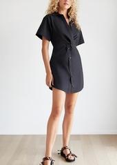 T by Alexander Wang alexanderwang.t Crisp Poplin Mini Shirt Dress