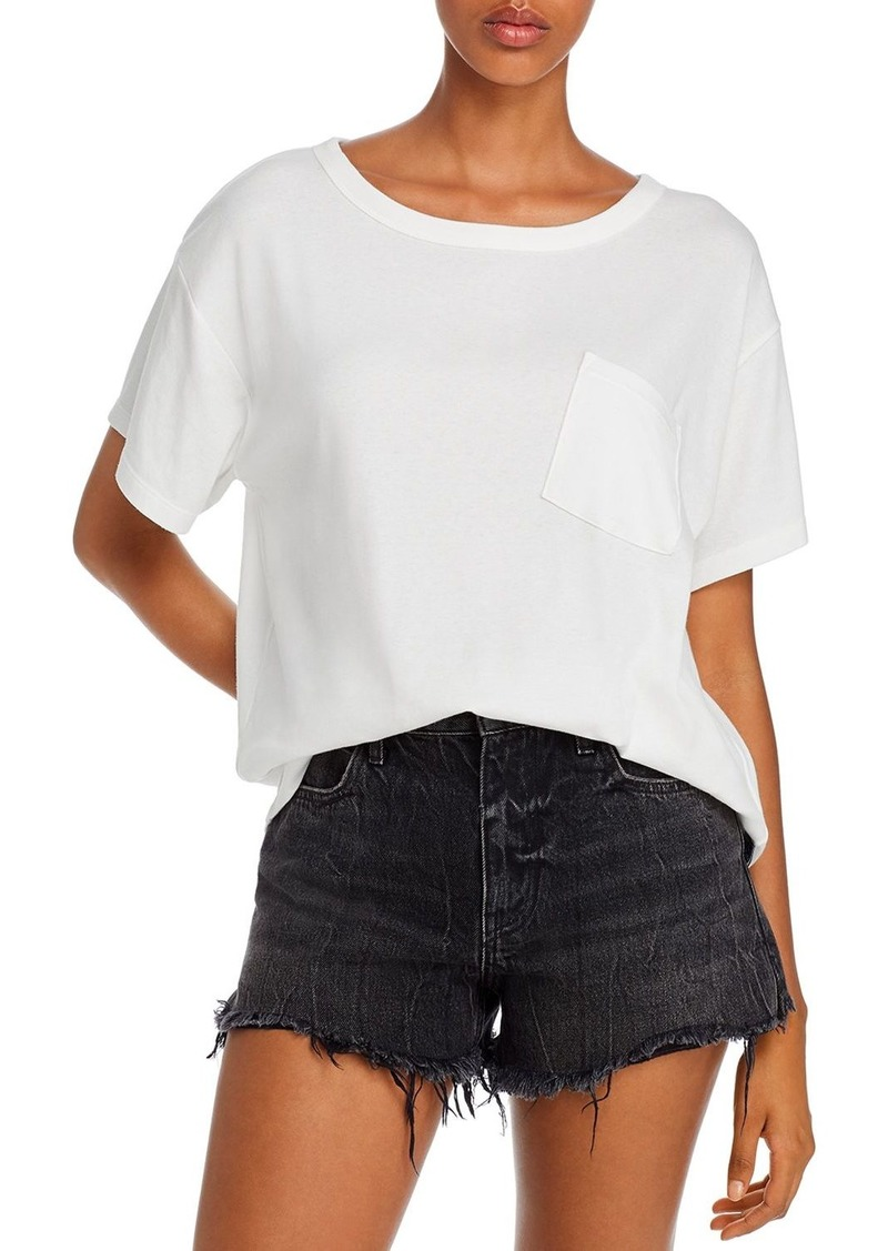 T by Alexander Wang alexanderwang.t Crooked Pocket Vintage Cotton Jersey Tee