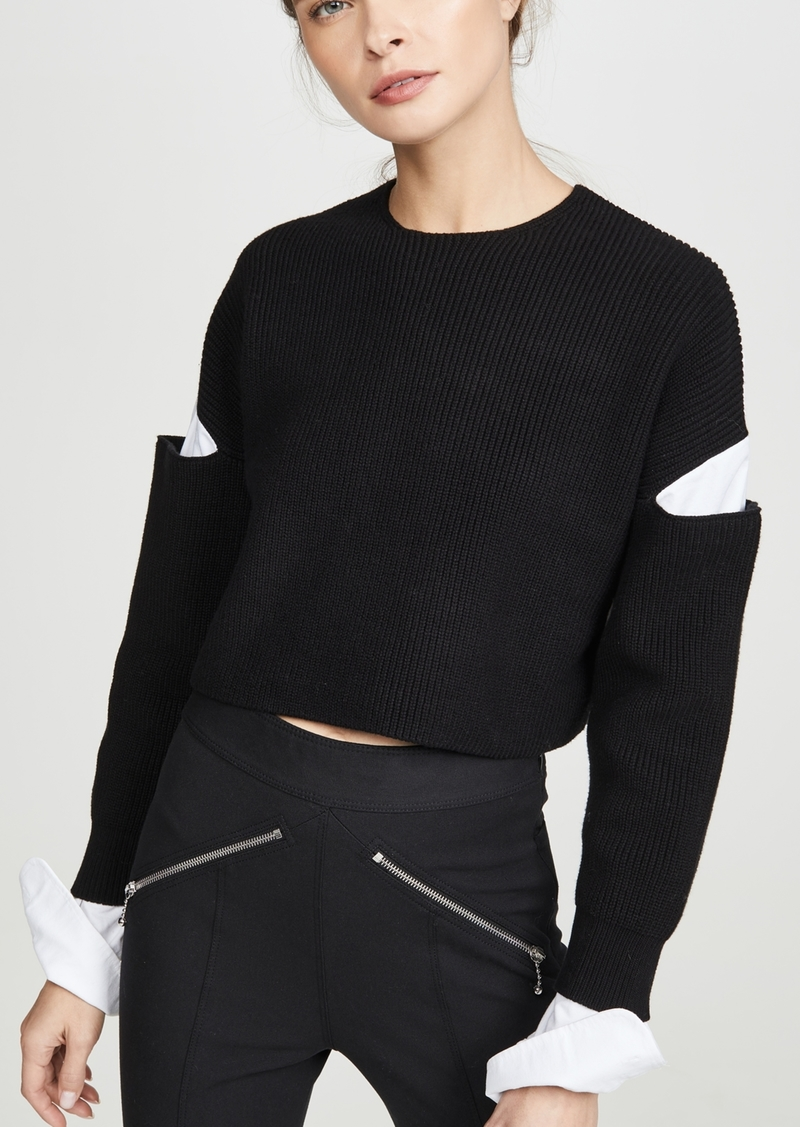 T by Alexander Wang alexanderwang.t Cropped Pullover Oxford Shirt