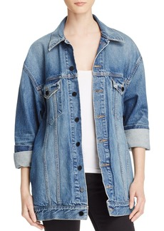 T by Alexander Wang alexanderwang.t Daze Denim Jacket in Light Indigo Aged