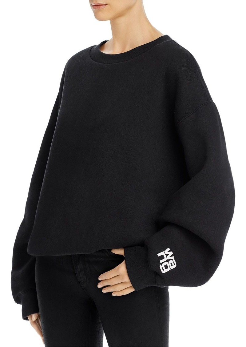 T by Alexander Wang alexanderwang.t Fleece-Lined Bubble Sweatshirt