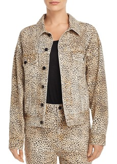 T by Alexander Wang alexanderwang.t Game Cheetah Print Denim Jacket