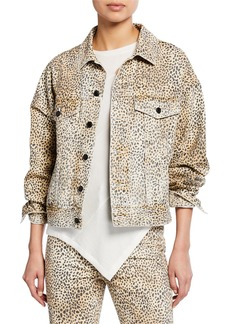 T by Alexander Wang alexanderwang.t Game Cheetah-Print Jacket