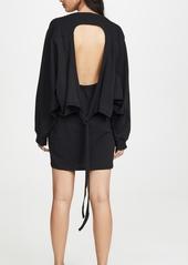 T by Alexander Wang alexanderwang.t High Twist Jersey Open Back Dress