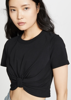 T by Alexander Wang alexanderwang.t High Twist Knot Crop Top