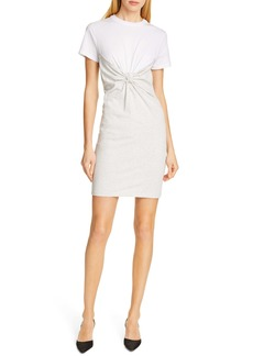 T by Alexander Wang alexanderwang.t Knot Front High Twist Jersey Dress