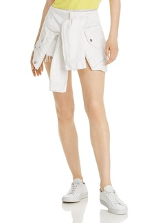 T by Alexander Wang alexanderwang.t Layered-Look Denim Skirt in Carpenter White