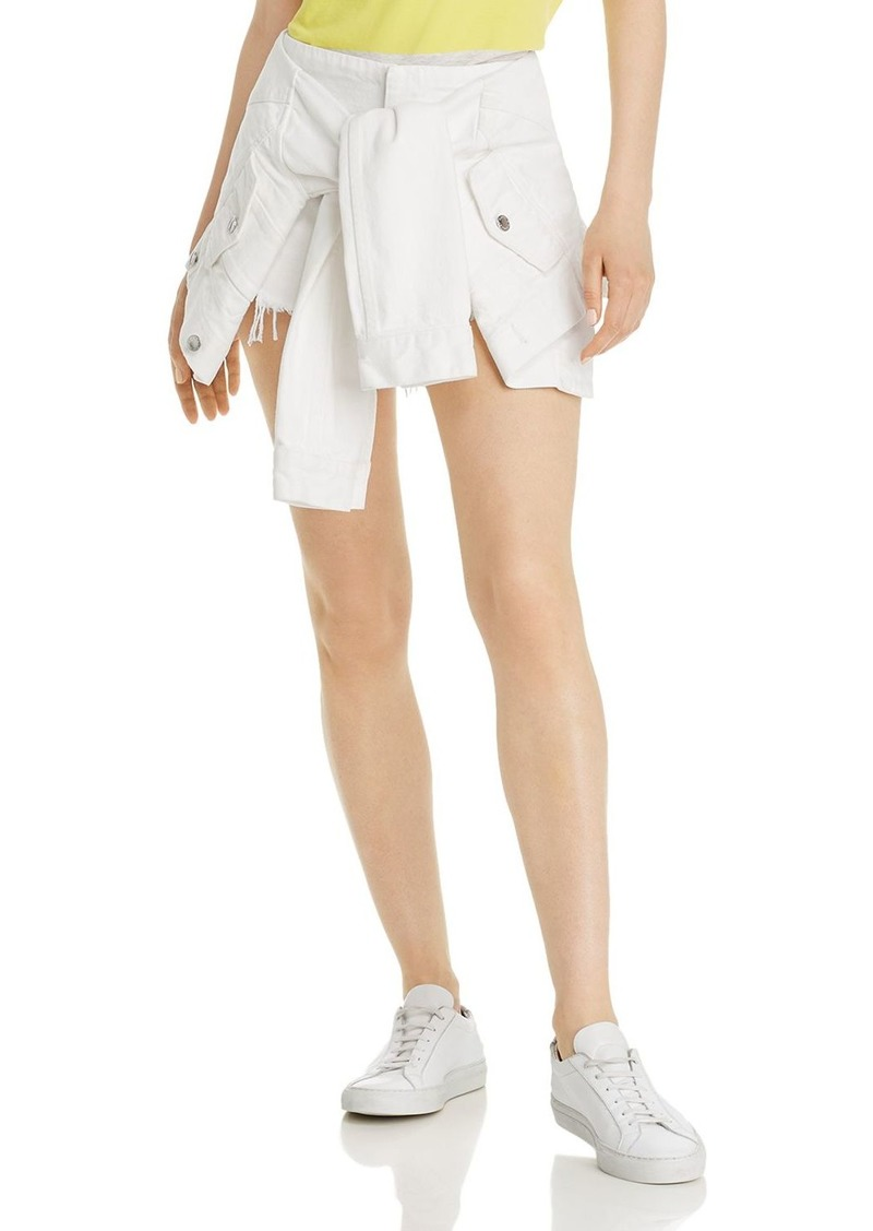 T by Alexander Wang alexanderwang.t Layered-Look Denim Skirt in Carpenter White