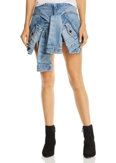 T by Alexander Wang alexanderwang.t Layered-Look Denim Skort