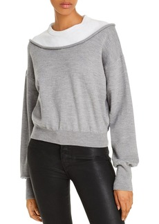 T by Alexander Wang alexanderwang.t Layered-Look Sweater